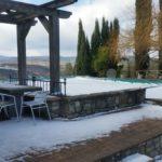 Casa Boschetto con neve